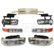 1ABGK00004-Chevy Grille  Headlights  Parking Lights  & Fog Lights Kit