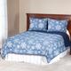 Reversible Snowflake Microfiber Comforter, Navy Blue/White
