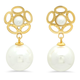 Faux Pearl & Flower Hanging Earrings