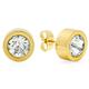 Round CZ Stud Earrings
