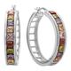 Multi-Colored Hoop Earrings