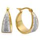 Diamond Dust Hoop Earrings VR
