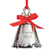 Personalized Silver Tone Christmas Bell Ornament