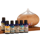 Healthful Naturals Complete Essential Oil Kit & Diffuser