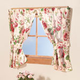 English Floral Window Curtains