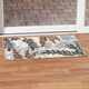 Leaf Print Accent Rug 45