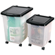 Rolling Storage Bins, Clear