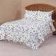 Blue Floral Scalloped Quilt by East Wing Comforts