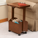 Rolling Folding Side Table by OakRidge Accents