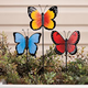 Butterfly Planter Stakes Set of 3 by Maple Lane Creations