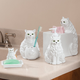 Playful Cat Bathroom Accessories Set of 4