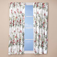Ruby Meadow Energy Saving Curtains by OakRidge