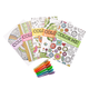 Adult Mini Coloring Books Set of 5 with Gel Pens