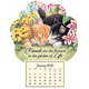 Mini Magnetic Calendar Kitten Friends