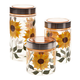 Sunflower Canisters Set of 3