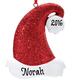 Personalized Santa Hat Glitter Ornament