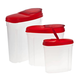 Pour and Store Plastic Dispensers Set of 3