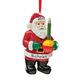 Personalized Bubble Light Santa Ornament