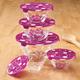 Dimple Dot Glass Bowls Set of 5