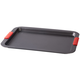 Large Baking Sheet with Red Silicone Handles by HSK