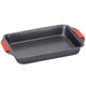 Heavy Duty 9x13 Pan with Red Silicone Handles by HSK