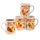 Rooster Coffee Cups, Set of 4