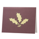 Holly Leaf Non Photo Personalized Card Set of 18