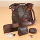 Patchwork Leather Handbag Set of 4