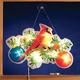 Cardinal with Ornaments Shimmer Light by Northwoods Illumina