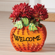 Welcome Pumpkin Planter by Maple Lane Creations