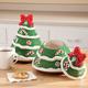 Ceramic Christmas Tree Cookie Jar