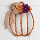 Pumpkin Grapevine Wreath with Burlap Ribbon