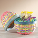 Pastel Wicker Easter Egg