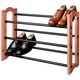 Woodlore Expandable Cedar Shoe Rack