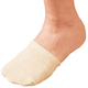 Toe Half Socks 2 Pair - Natural, One Size