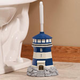 Lighthouse Toilet Brush Holder & Brush by OakRidge