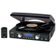Jensen 3 Speed Turntable with AM/FM Radio & MP3 Encoding