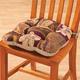Reversible Plaid Leaf Chair Pad