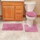 3-Piece Plush Geometric Bathroom Set by OakRidge Accents