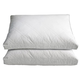 Cotton Quilted White Goose Down & Feather Pillows, Set of 2