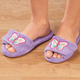 Lavender Embroidered Butterfly Slippers