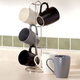 Textured Mug Set with Stand 7 Pieces