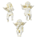 Resin Cherub Pot Sitters, Set of 3 by Maple Lane Creations