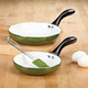 Aluminum Non-Stick Fry Pans Set of 2 with Free Spatula