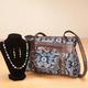 Printed Handbag and Jewelry Set