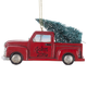 Personalized Red Truck with Tree Ornament Personalized
