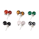 Genuine Gemstone Post Earrings Set of 6 pair