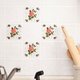 Self Adhesive Red Rose Wall Tiles- Set of 20