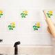 Self Adhesive Yellow Rose Wall Tiles- Set of 20