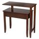 Two-Tier Swivel Table by OakRidgeTM XL